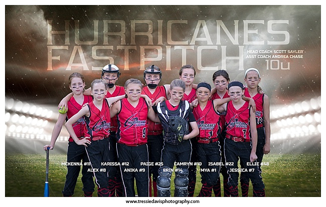 Softball Banner - 2015 Hurricanes Fastpitch 10u www.tressiedavisphotography.com